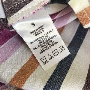 Aeropostale Dresses - Aeropostale rainbow multicolored stripe button